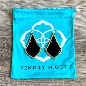 Kendra Scott Alex Gold Drop Black Earrings